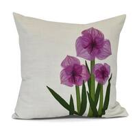 Amaryllis, Floral Print Pillow