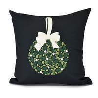 Mistletoe Me, Floral Print Pillow