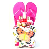 Raspberry Rose Springtime  Butterfly Spa Box