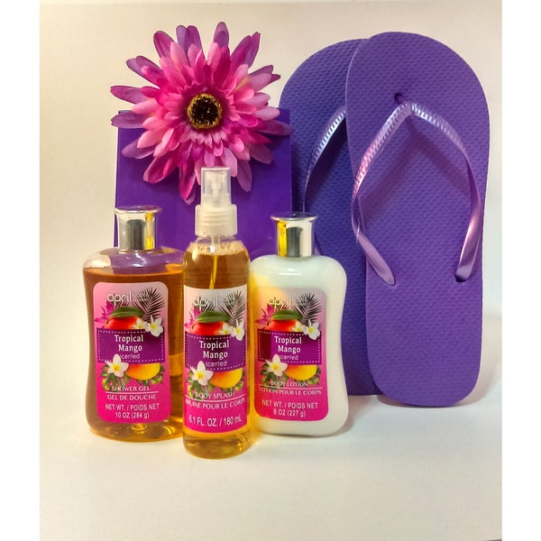 Tropical Mango spa set