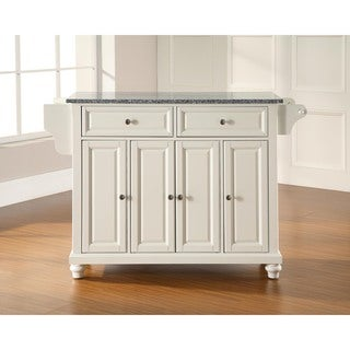 Cambridge Solid Granite Top Kitchen Island in Vintage Mahogany Finish - N/A
