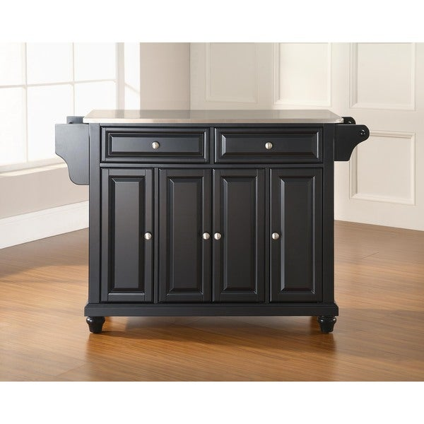 Shop Cambridge Stainless Steel Top Kitchen Island In Black