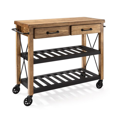The Gray Barn Tipperary Wood and Metal Kitchen Cart