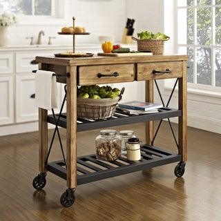 The Grey Barn Tipperary Wood and Metal Kitchen Cart