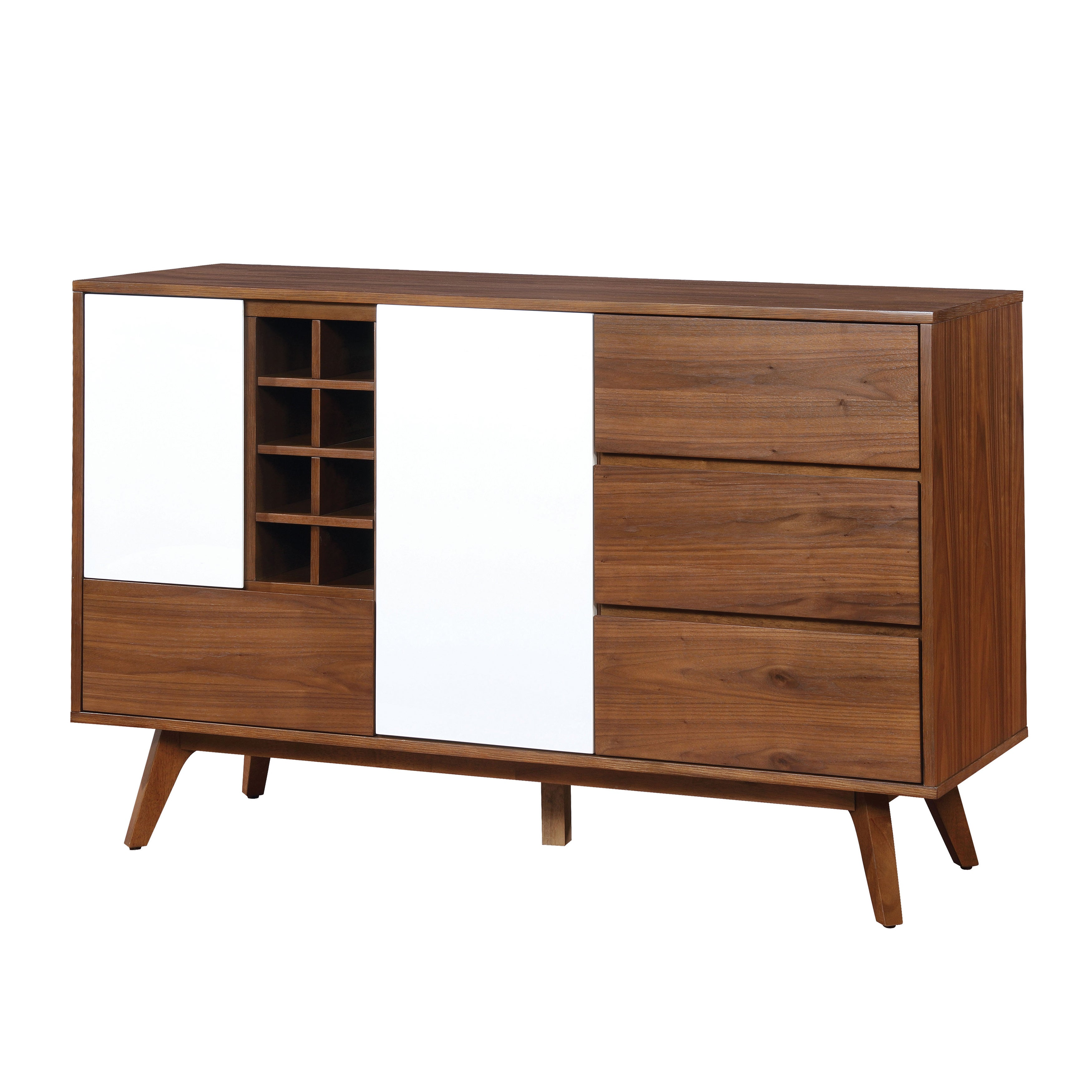 Shop Furniture Of America Liman Mid Century Modern 2 Tone Oak White