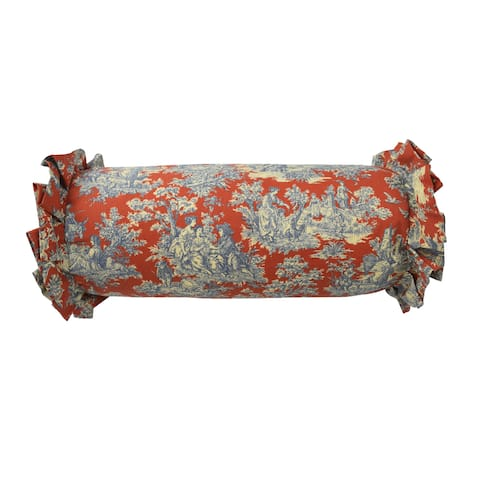 Waverly Sanctuary Rose 7x22 Neckroll Decorative Accessory Pillow