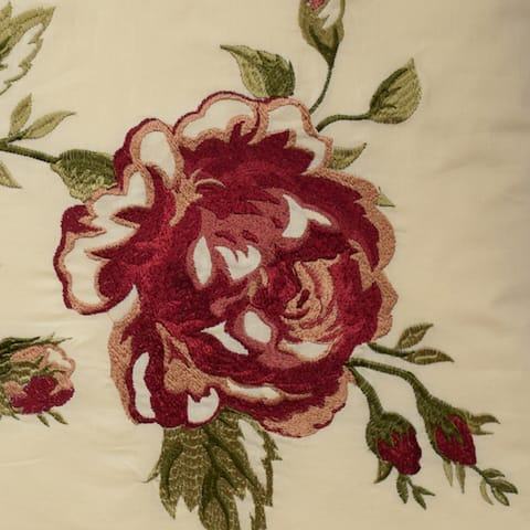 Waverly Norfolk 20 inch Embroidered Decorative Accessory Throw Pillow