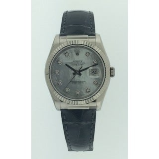 Pre-Owned Rolex Datejust, Ladies, 116139, White Gold, Mother of Pearl Diamond Dial, 36 mm Watch