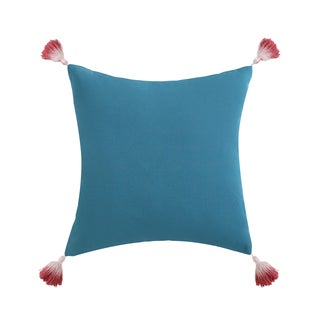 """Oceanfront Resort Coco Paradise 16"""" Square Dip Dyed Tassel Decorative Pillow"""