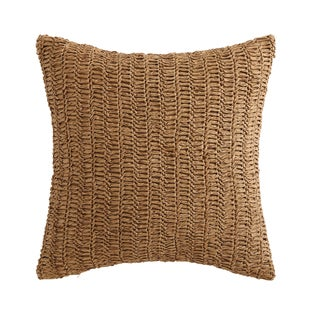 "Oceanfront Resort Coco Paradise 18"" Square Raffia Decorative Pillow"