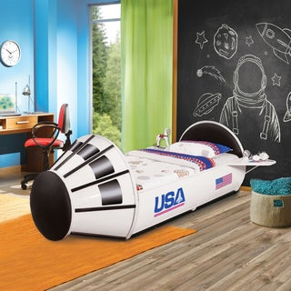 Furniture of America Jupiter Space Shuttle-inspired White Full-size Youth Bed