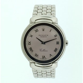 Pre-Owned Rolex Women's Cellini 6622/9 White Gold Pink Roman Dial 33mm, Watch