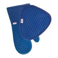 T-fal Textiles 2 Pack Soft Flex Waffle Silicone Pot Holder & Oven Mitt Set