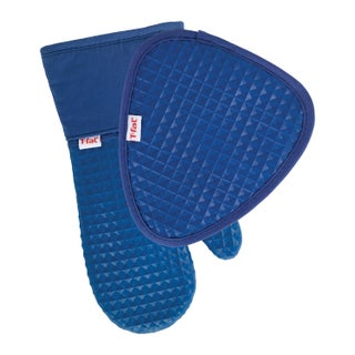 T-fal Textiles 2 Pack Soft Flex Waffle Silicone Pot Holder & Oven Mitt Set (More options available)