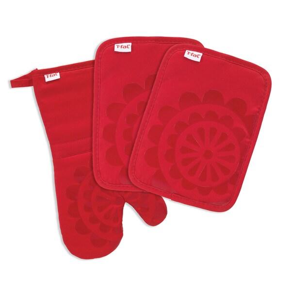 T Fal Textiles 2 Pack Medallion Design 100 Cotton Silicone Pot Holder Breeze 2 Pack