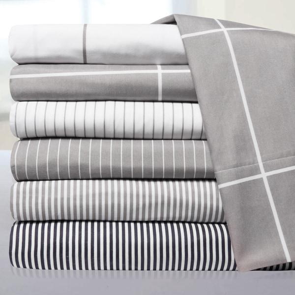 Loft Collection Modern Classic Pinstripe 6-Piece Sheet Set