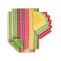 T-fal Textiles 10 Pack Print Reversible Dish Drying Mat & Print Dual Kitchen Dish Cloth Set