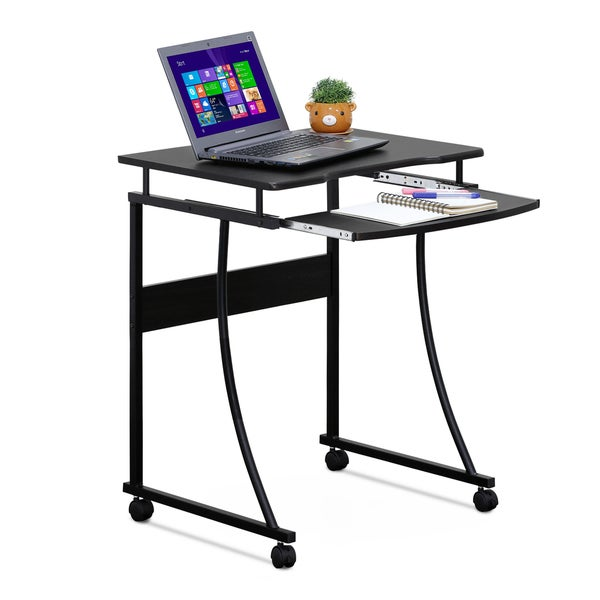 Shop Furinno Besi Metal Frame Computer Desk with Keyboard ...