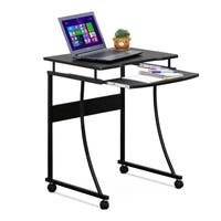 Furinno Besi Metal Frame Computer Desk with Keyboard Tray, Espresso FCG295EX