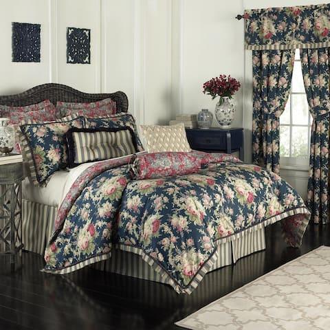 Waverly Sanctuary Rose Cotton 4 Piece Bedding Collection