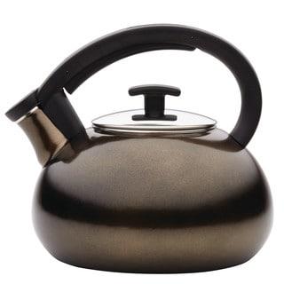 Anolon Allume Teakettles 2-Quart Enamel on Steel Bronze Teakettle