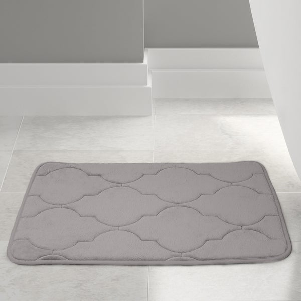 Amrapur Overseas Embossed Memory foam Lattice bath mat