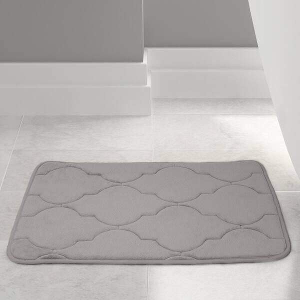 Memory Foam O Lattice.Shop Amrapur Overseas Embossed Memory Foam Lattice Bath Mat