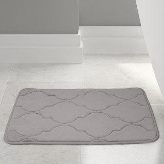 Amrapur Overseas Embossed Memory foam Lattice bath mat