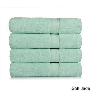 Lezeth Collection Super Absorb Zero Twist Oversized Bath Sheets (4 Pack) (More options available)