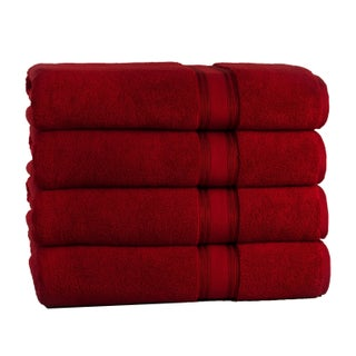 Lezeth Collection Super Absorb Zero Twist Oversized Bath Sheets (4 Pack)