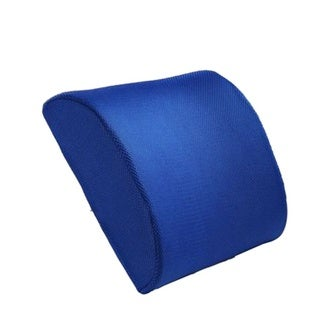 Back Support Seat Cushion (12.60in x 12.20in x 3.94in) (Blue)