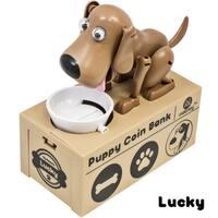 Dog Piggy Bank Robotic Coin Toy Money Box Named Lucky