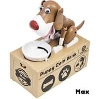 Dog Piggy Bank Robotic Coin Toy Money Box Named Max