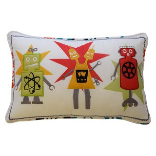 Waverly Kids Robotic Embroidered Decorative Accessory Pillow