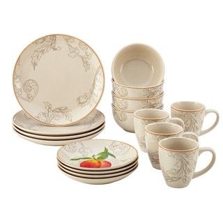 Paula Deen Orchard Harvest Stoneware 16-Piece Dinnerware Set