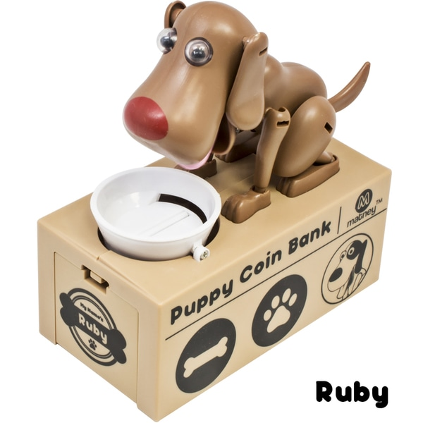 Dog Piggy Bank Robotic Coin Toy Money Box Named Ruby