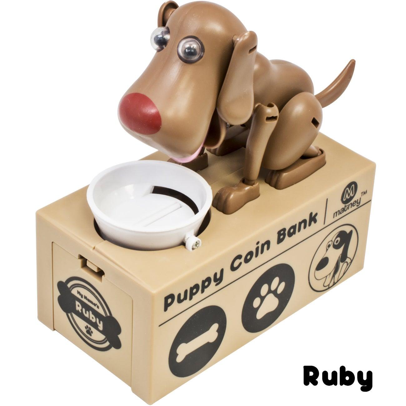 Ggi International Dog Piggy Bank Robotic Coin Toy Money B...