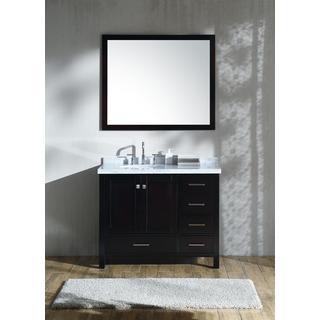 Ariel Cambridge Espresso 43-inch Left-offset Single-sink Vanity Set