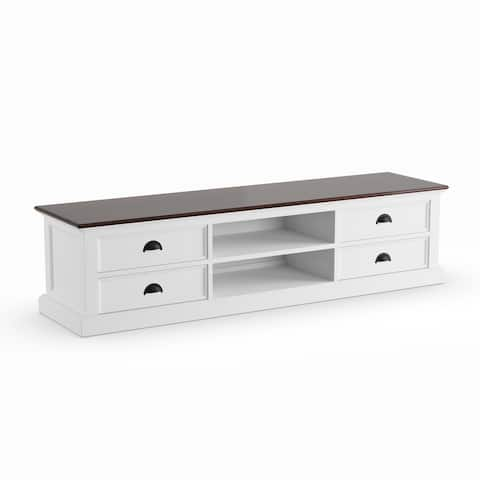The Gray Barn Ora Mahogany/ White Large 4-drawer Entertainment Unit - 70,87 x 17,72 x 17,72