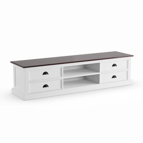 The Gray Barn Ora Mahogany/ White Large 4-drawer Entertainment Unit - 70,87 x 17,72 x 17,72