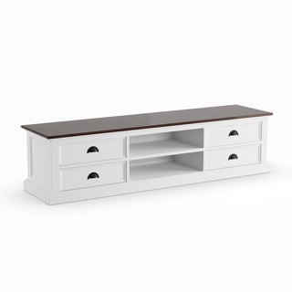 NovaSolo Halifax Accent Mahogany Finish/White Large 4-drawer Entertainment Unit