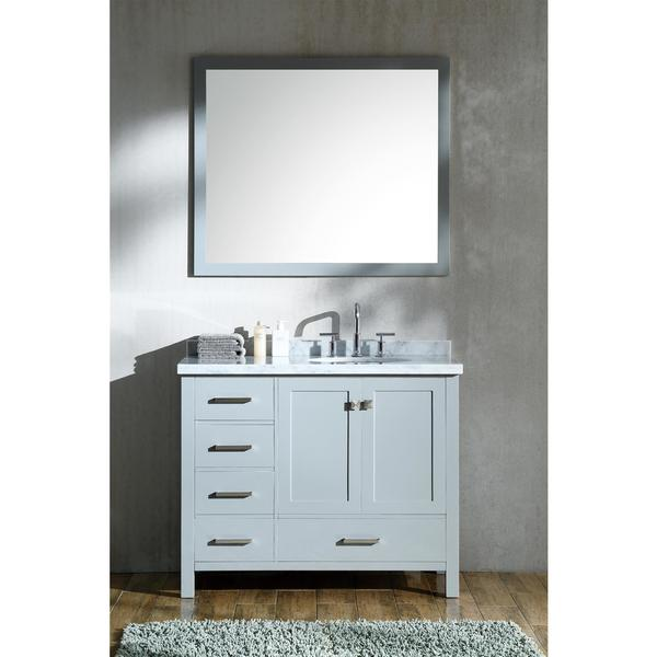 Ariel Cambridge Grey 43-inch Right Offset Single-sink Vanity Set