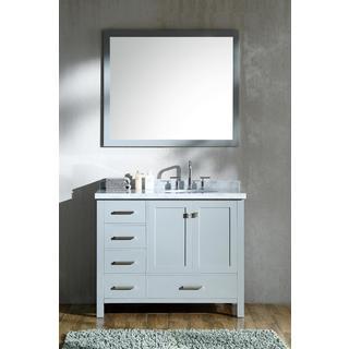 Ariel Cambridge Grey 43-inch Right Offset Single-sink Vanity Set
