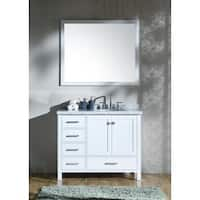 Ariel Cambridge White 43-inch Right Offset Single-sink Vanity Set