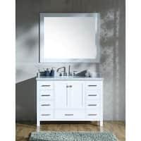 Ariel Cambridge White 49-inch Single-sink Vanity Set