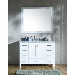 Ariel Cambridge White 49 Inch Single Sink Vanity Set