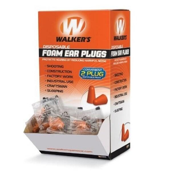 Walkers Foam Ear Plugs, 200 Pairs in Box