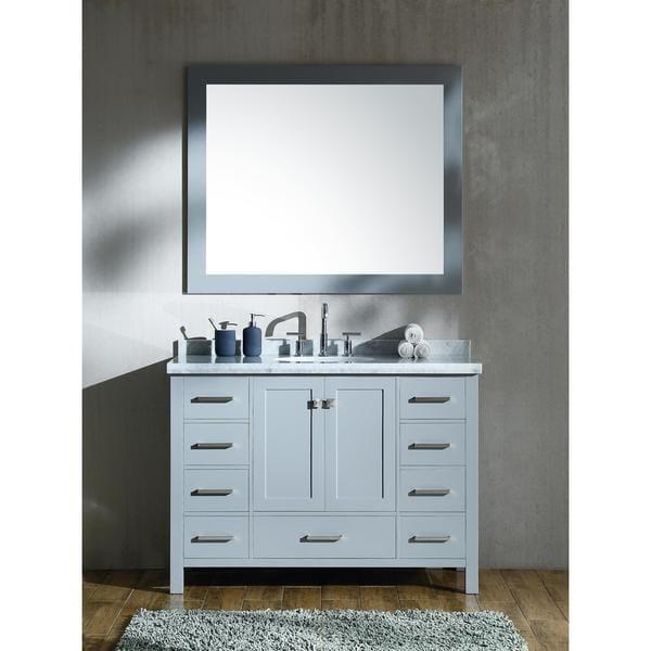 Ariel Cambridge Grey 49-inch Single Sink Vanity Set