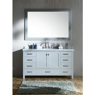 Ariel Cambridge Grey 61-inch Single-sink Vanity Set