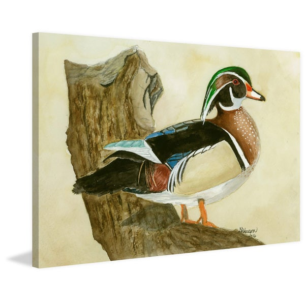 'Woodduck' Painting Print on Wrapped Canvas